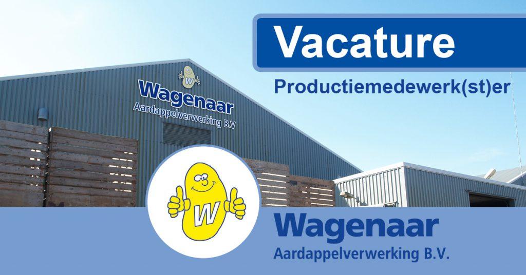 vacature Wagenaar Aardappelverwerking voor productiemedewerker of productiemedewerkster